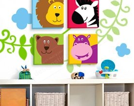 фото картинки для детской, фото декор для стен, интерьер детской фото, декорировать стены фото, фото картины на холсте