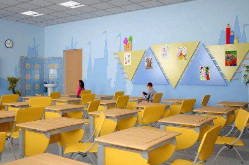 фото ремонт класса начальной школы