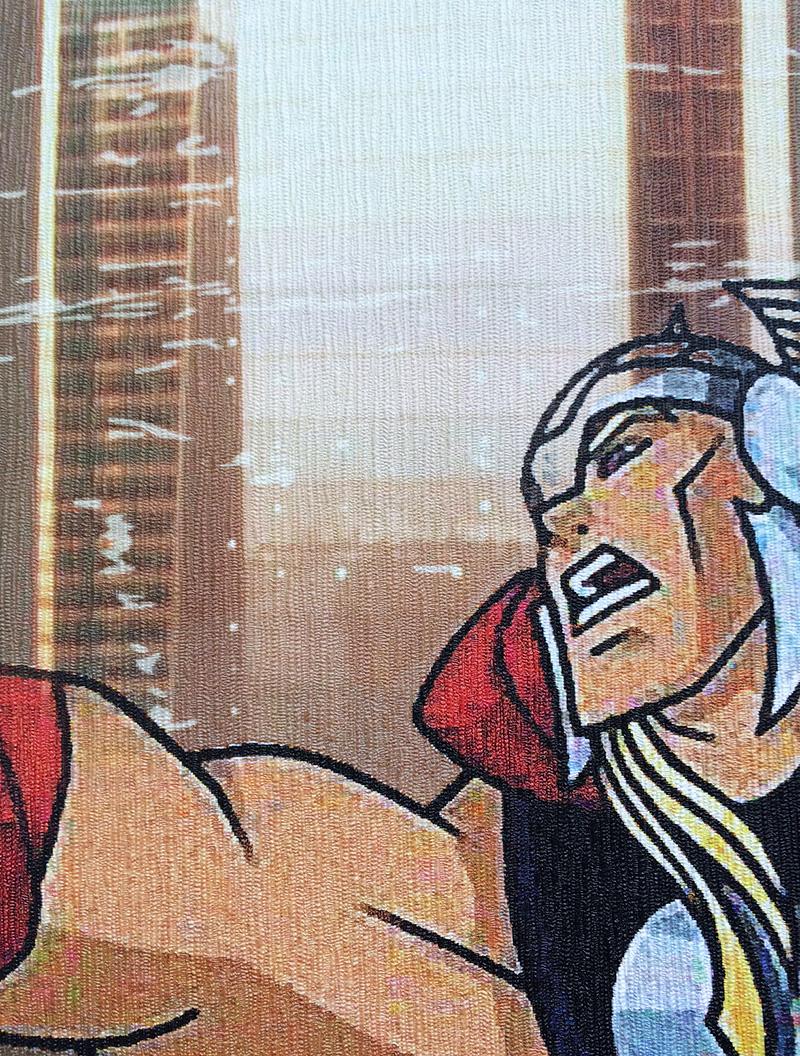 фото текстура лен фотообои супергерои, фотообои для подростка супергерои тор фото