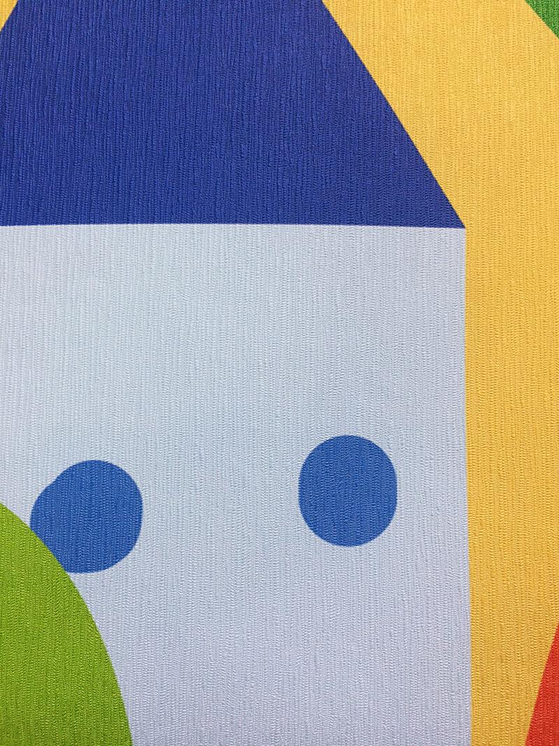фото текстура лен фотообои в детскую, фотообои город разноцветный текстура лен фото, фотообои в детскую сказочный город фото