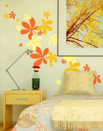 наклейка падающие листья фото, осенние листья наклейка фото