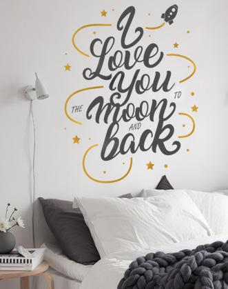 надписи на стену, наклейка слова, наклейка на стену фото