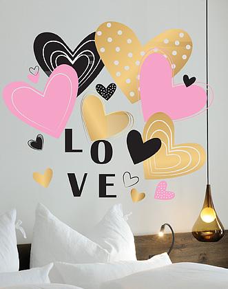 надпись на стену, i love you, love, я люблю тебя фото, наклейка на стену фото, валентинка своими руками фото, подарок на 14 февраля своими руками фото