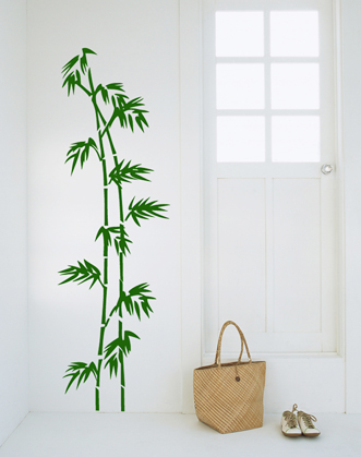 наклейка на стену, стекло, мебель бамбук фото