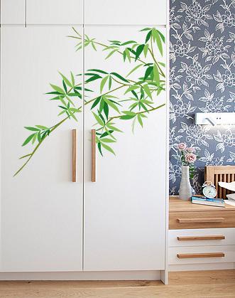 наклейка ветка бамбука фото
