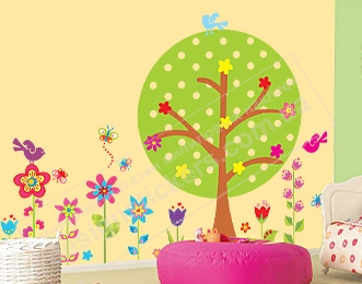 Объемные наклейки на стену цветы 39