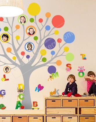 наклейка алфавит фото, наклейка дерево фото, наклейка в класс фото