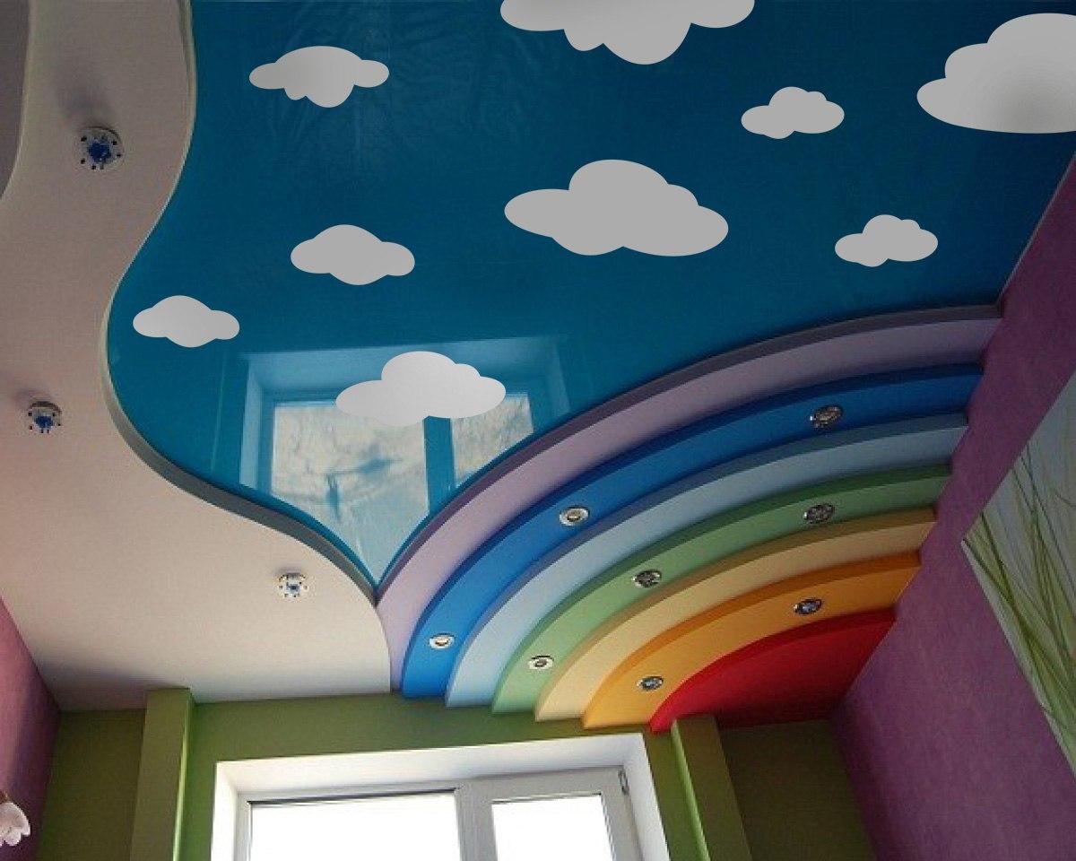 облака наклейки фото, небо наклейка фото, облака на потолке фото, небо на потолке фото