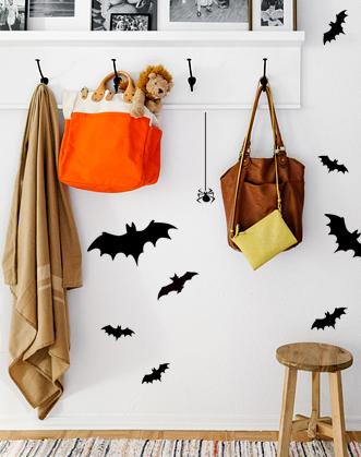 наклейка хэллоуин фото, наклейка летучие мыши фото, наклейка летучие мыши на хэллоуин фото