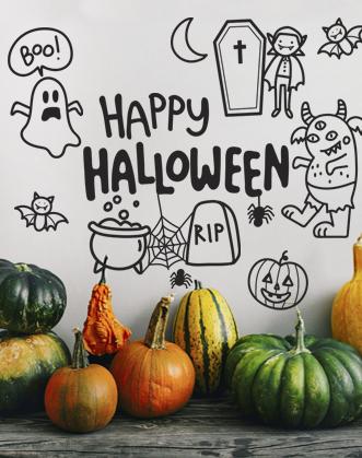 Наклейка для хэллоуина фото, наклейки на стену хеллоуин фото, наклейки кошелек или жизнь фото, декор на хелуин, декор офиса на хелоуин фото, декор ресторана на хелоуин фото, декор магазина хелоуин фото, как оформить на хелоуин фото