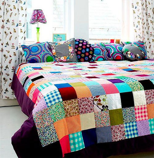 одеяло в стиле печворк фото