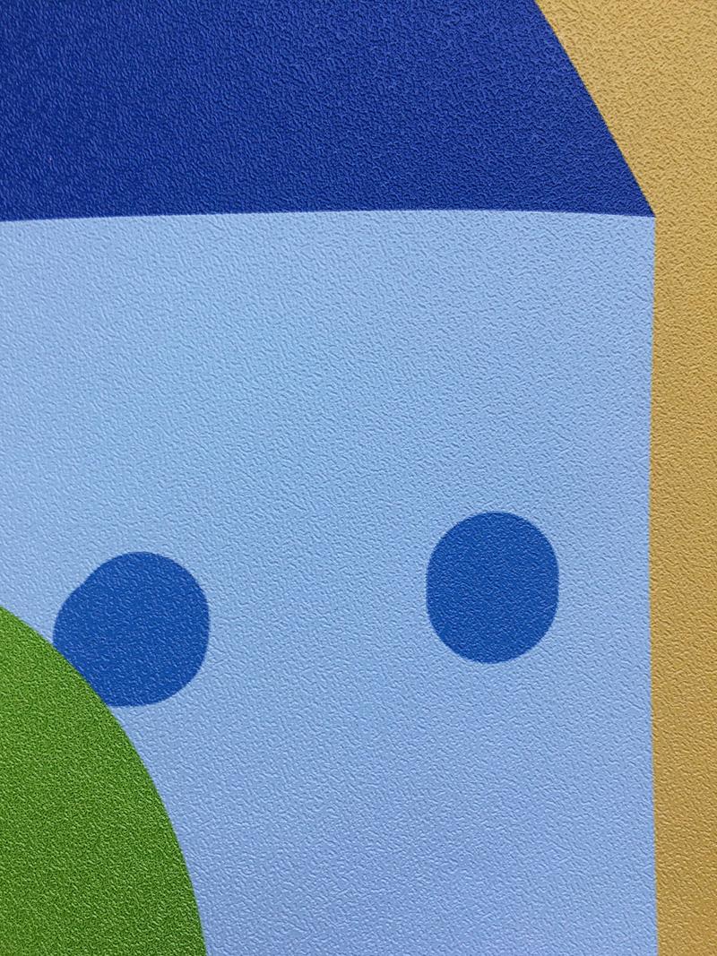 фото моющиеся фотообои город разноцветный, виниловые фотообои в детскую сказочный город фото текстура песок, дизайн стикерс фотообои детские текстура фото