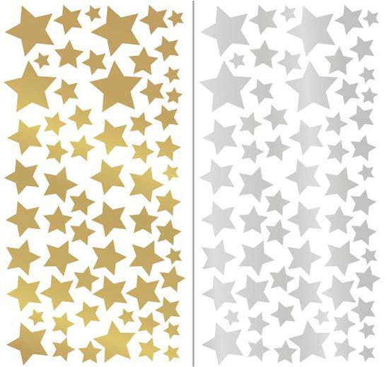 фото декор новогодний звездами витрины