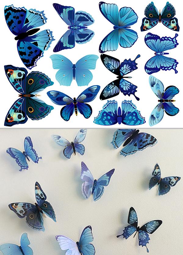 Картинки с объемными бабочками, приглашения день рождения