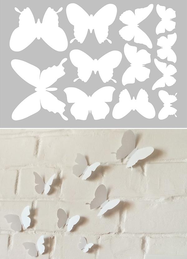 тату бабочки 3d фото | 832x600