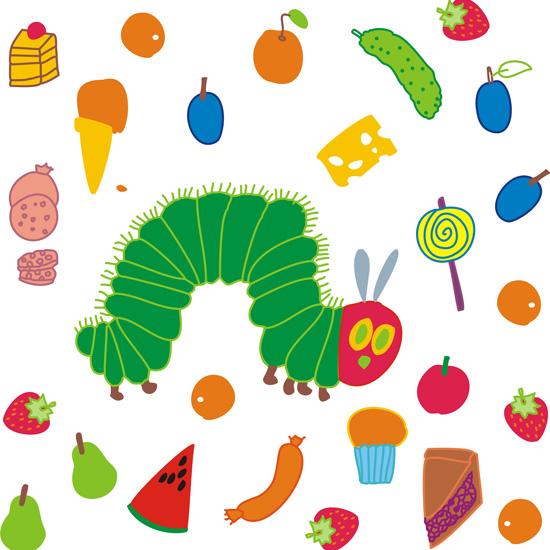 """Раскраска многоразовая-наклейка на стену """"Очень голодная ..."""