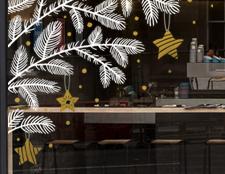 фото новогодний декор витрины