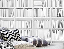 фото дизайн стикерс фотообои книжная полка белая виниловые