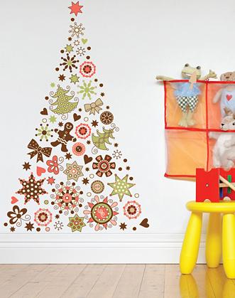 наклейка елка фото, елка из приников фото, подарок на новый год, пряничная елка