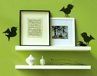 наклейки птички, наклейка на кухню птички,оригинальный недорогой подарок