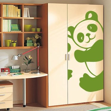 фото наклейка на шкаф панда