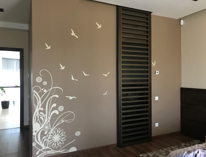 декор спальни в стиле минимализм