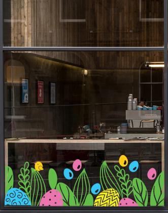 пасхальный декор фото, пасхальный декор своими руками фото, оформление витрин на Пасху фото, оформление витрин к Пасхе фото, весенний декор окон фото