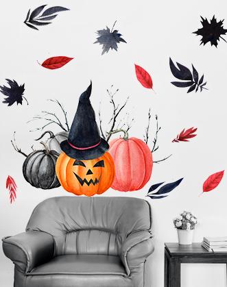декор на хэллоуин фото, украсить зал на хэллоуин фото, наклейки к хэллоуину фото, декор хэллоуин фото