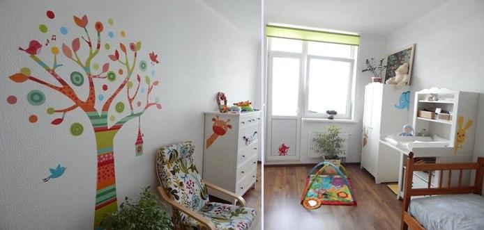 фото декора детской наклейками