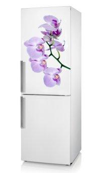 фото виниловая наклейка на холодильник орхидея