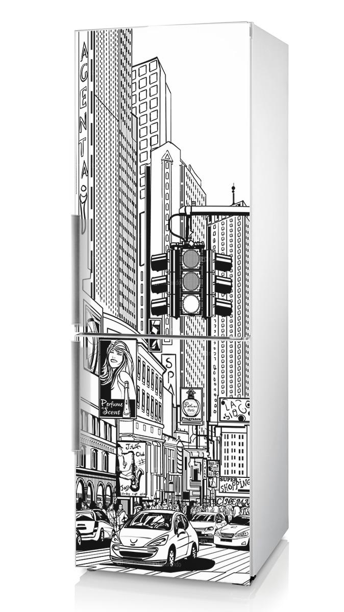 виниловая наклейка на холодильник Нью-Йорк фото